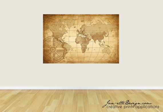 World map fabric wall decal wall art map wall sticker world map world map decal printed on reusable wall fabric oceans countries and some major towns labeled publicscrutiny Image collections