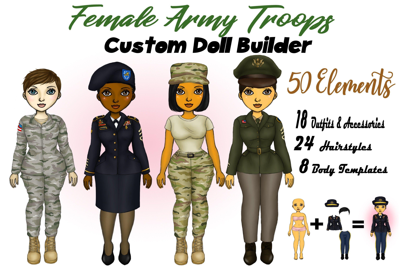 Female Army Clipart Military Clipart Army Blues Green Etsy Custom Dolls Clip Art Print Planner [ 2000 x 3000 Pixel ]