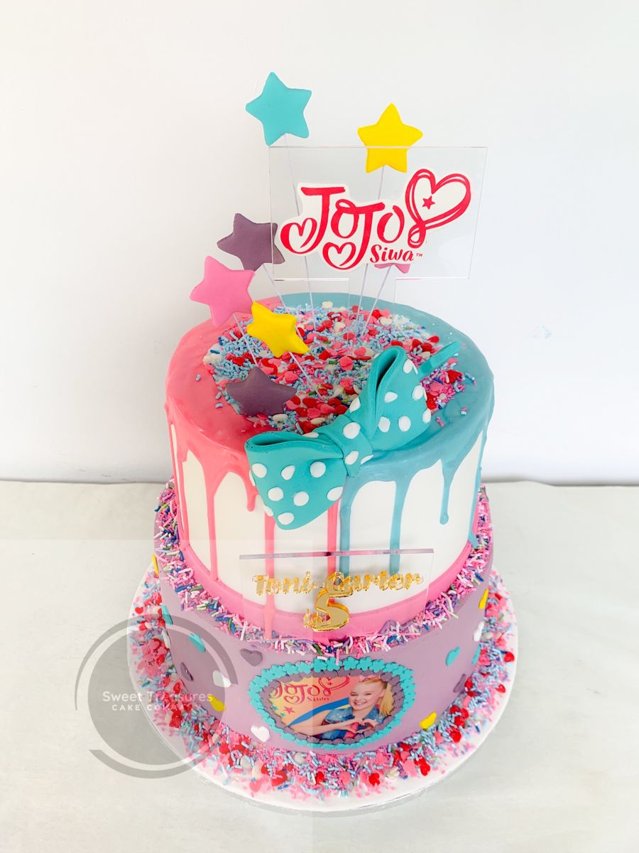 ToniCarter turns 5. Loved making this Jojo Siwa cake for