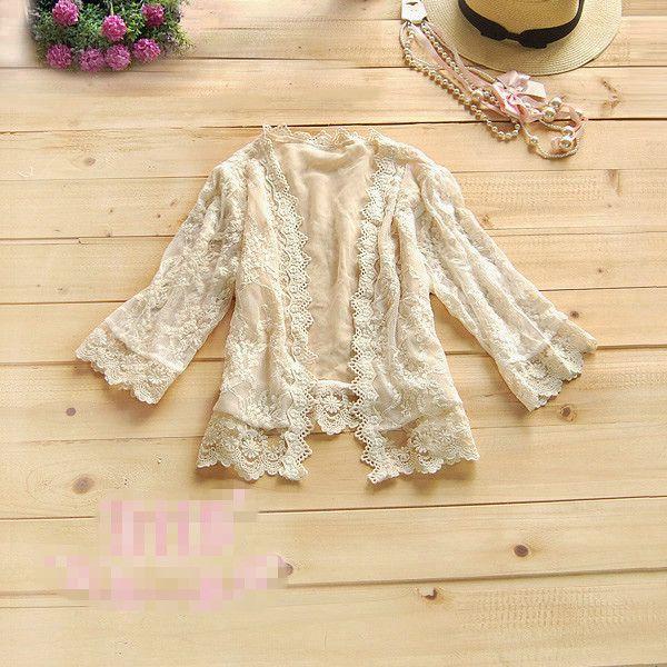 ZAZA Autumn jacket outerwear Cardigan joker lace short coat Free Shipping W4084
