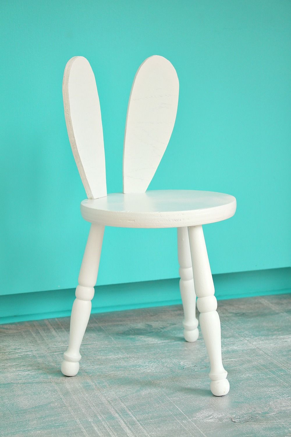 DIY Stool with Bunny Ears // Easy furniture hack - so cute for kid's rooms and fun for spring. Great upcycling projects.