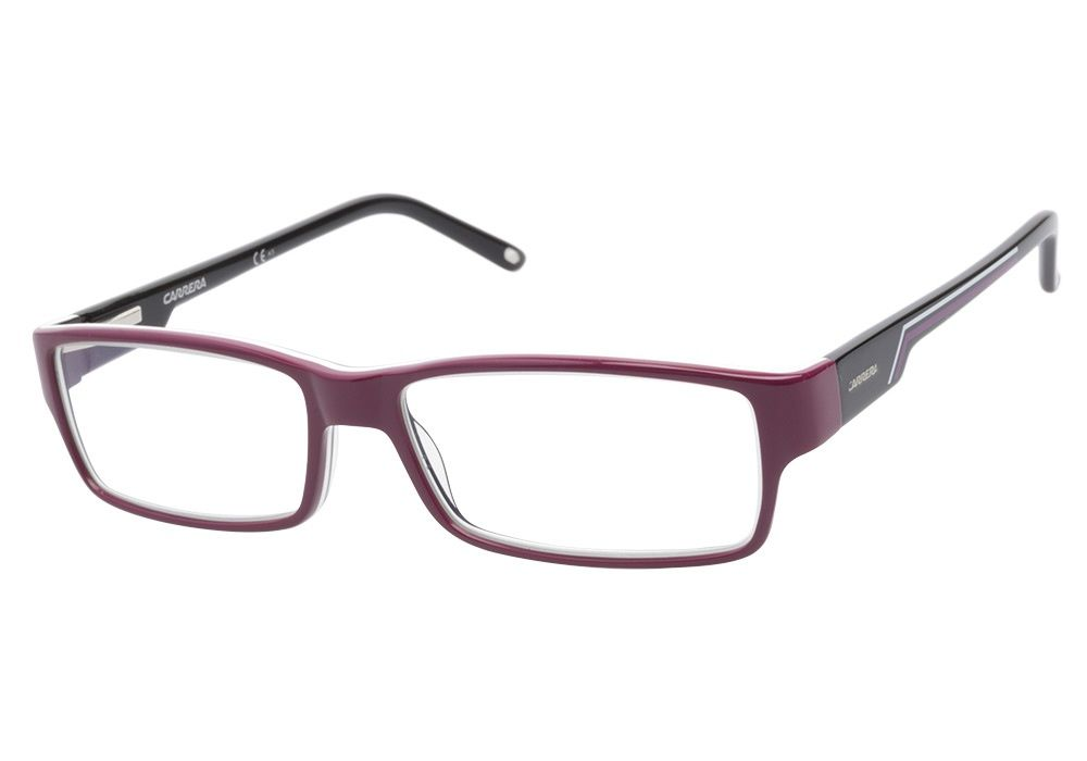 Carrera 6184 X0N Aubergine Black eyeglasses are rich and sporty ...
