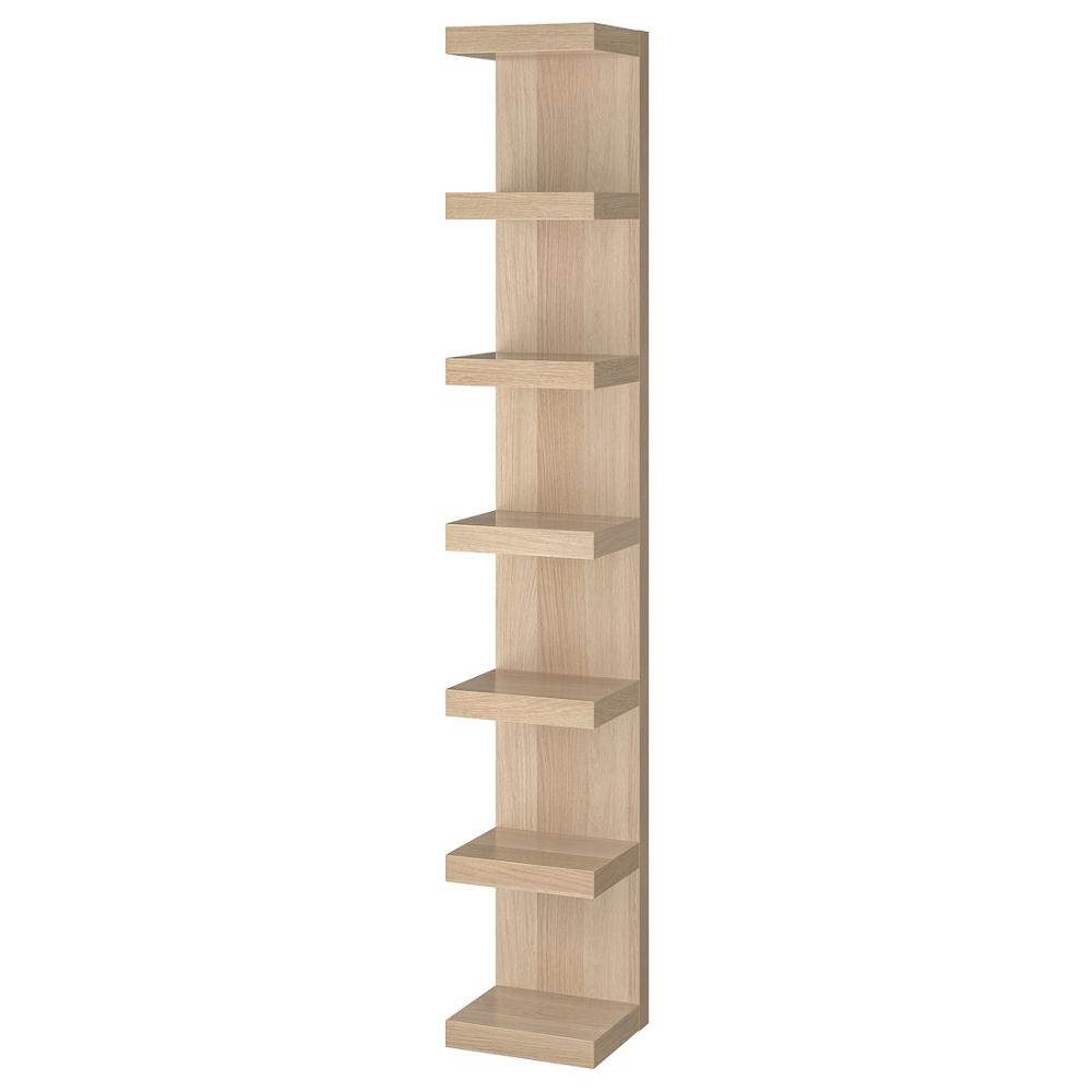 Lack Wall Shelf Unit White Stained Oak Effect 11 3 4x74 3 4 Ikea In 2020 Wall Shelf Unit Ikea Lack Wall Shelf Ikea Lack Shelves