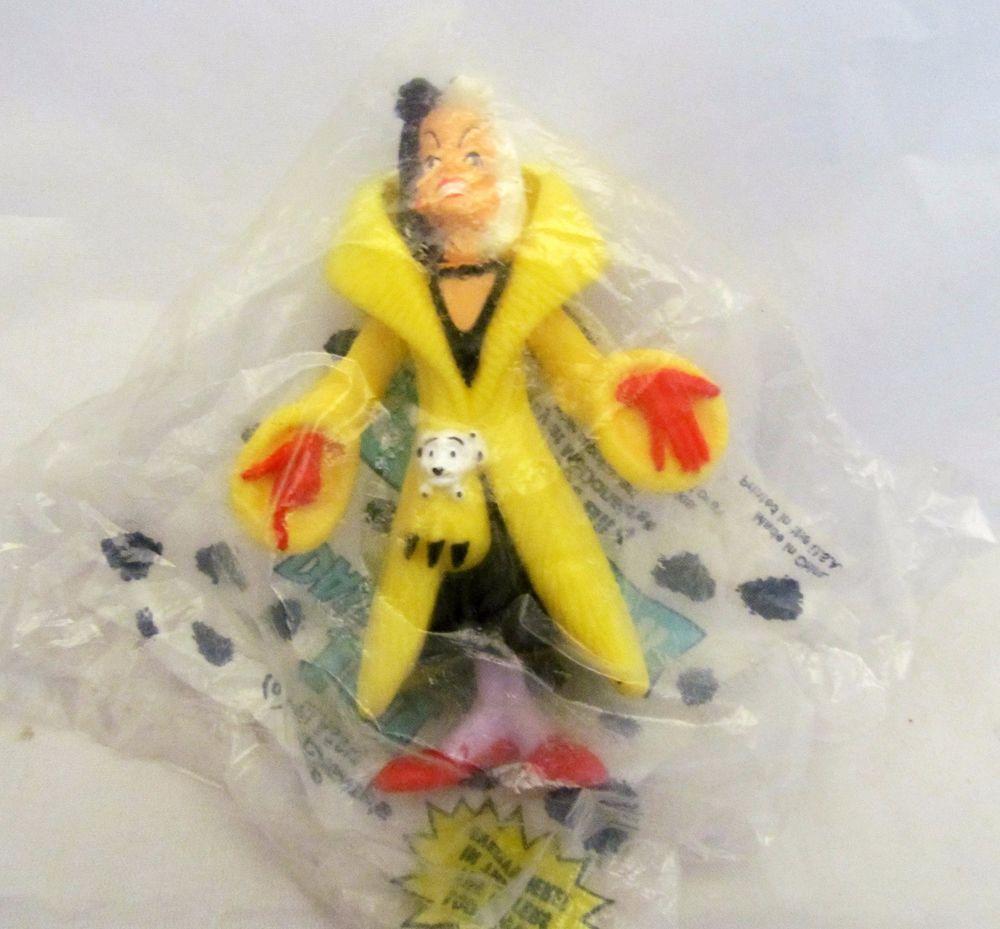 Disney Cruella De Ville 101 Dalmatians Villain Plastic McDonalds Toy Figurine
