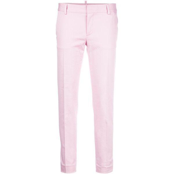 slim-fit trousers - Pink & Purple Dsquared2 PQQsm2t