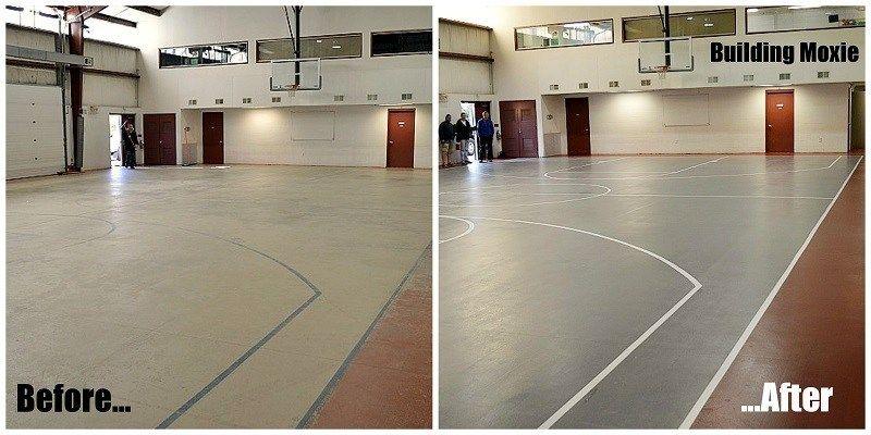 Painting a Basketball Court Basketball court, Basketball