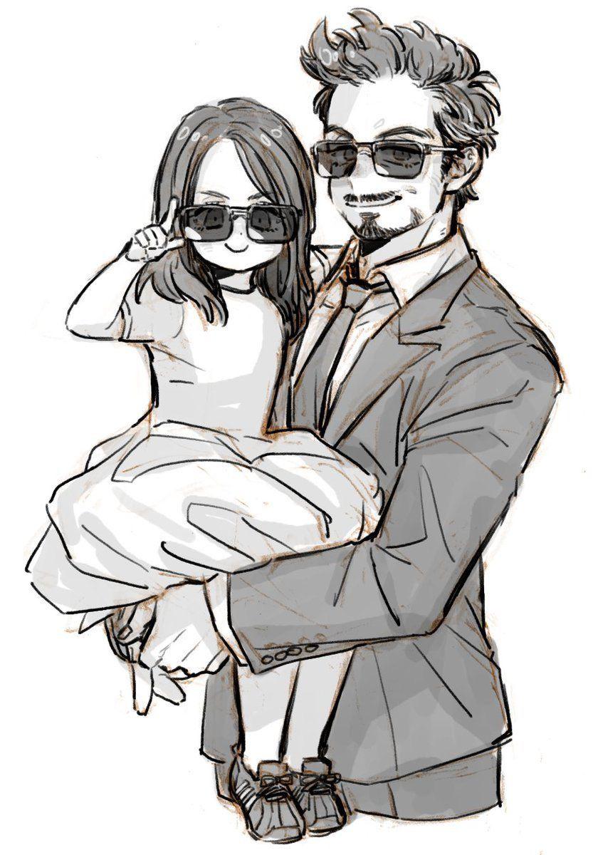 Tony Stark Y Su Hija Que Lindo Marvel Superheroes Marvel Marvel Avengers