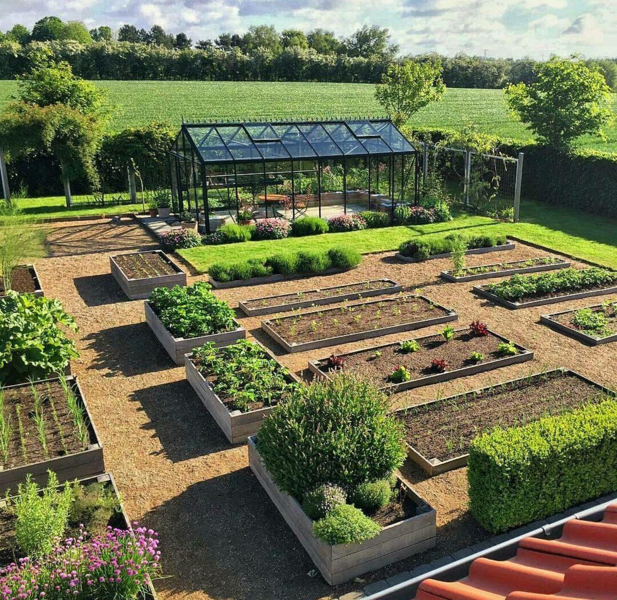 Potager Garden Design Ideas: Gorgeous Conservatory Greenhouse Love Potager Layout So