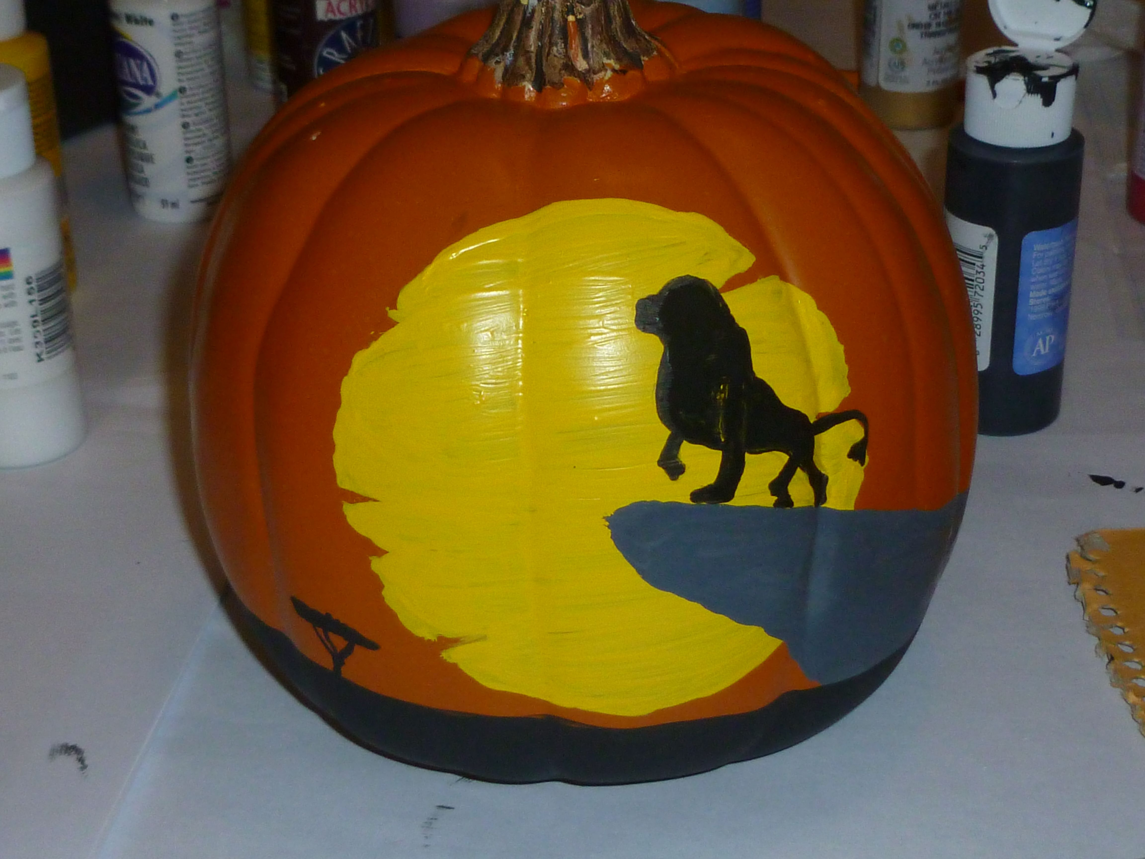 the lion king painted pumpkin | holiday | pinterest | lions