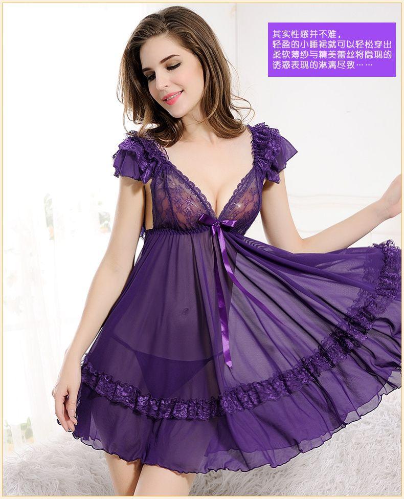 Premium Quality Sexy & Beautiful Nightgown Onesie Sleepshirts Lingerie Sleepwear Pajamas For Women Plus Size Camisones Sexy