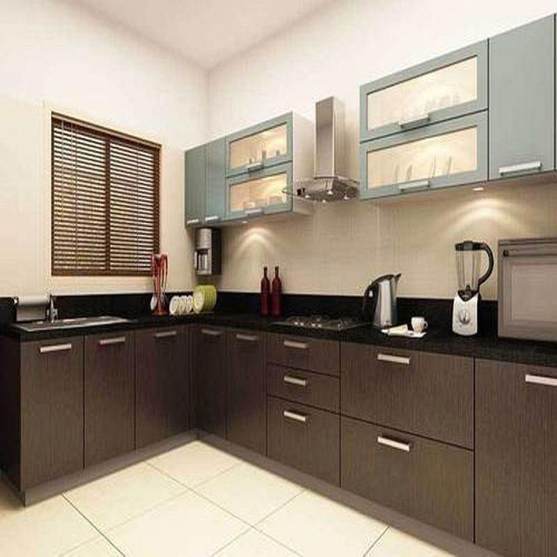 u shaped small parallel modular kitchen with calabar