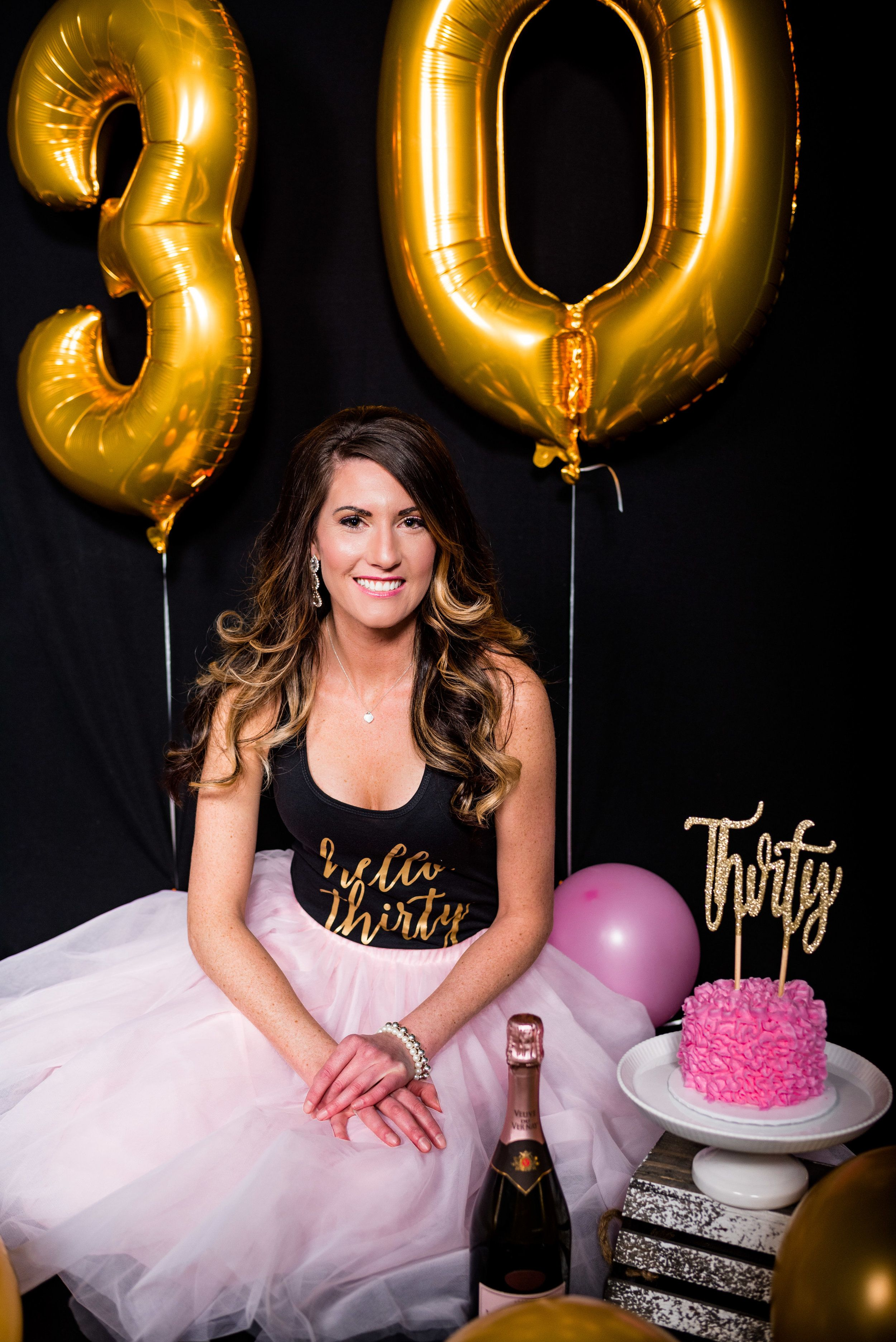 Holly Turns 30! Grown Up Cake Smash. Toledo Ohio Photography. 5016cacc6a92