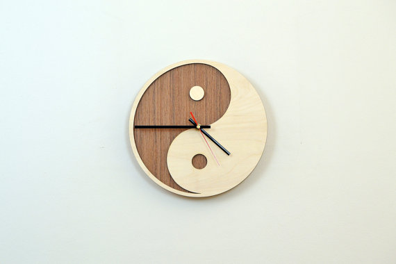 28cm Holz Wanduhr Home Decor Haushaltswaren Clock Etsy Diy Clock Wall Custom Wall Clocks Wooden Clock