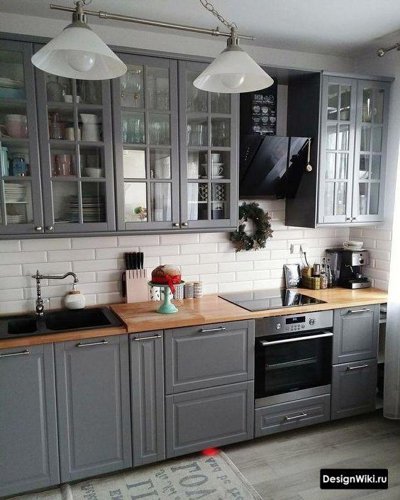Кухня в стиле Неоклассика: 101 фото (белая, серая, голубая) и 8 идей