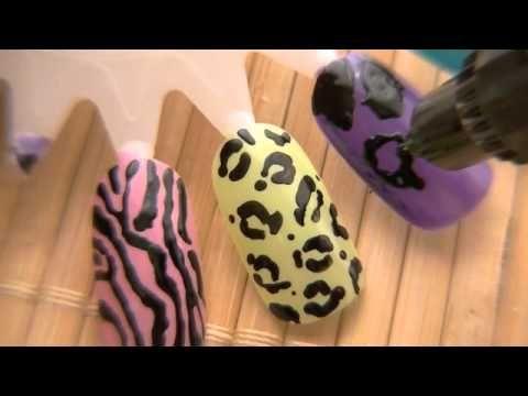 Easy Animal Print Nail Design Using 2 Way Nail Art Pen Beauty