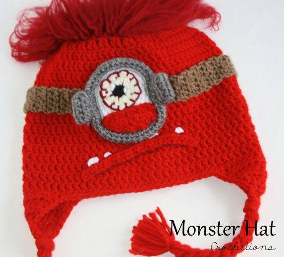 Alien / Monster Crochet Hat / Silly Hat by CrochetionsbyShell