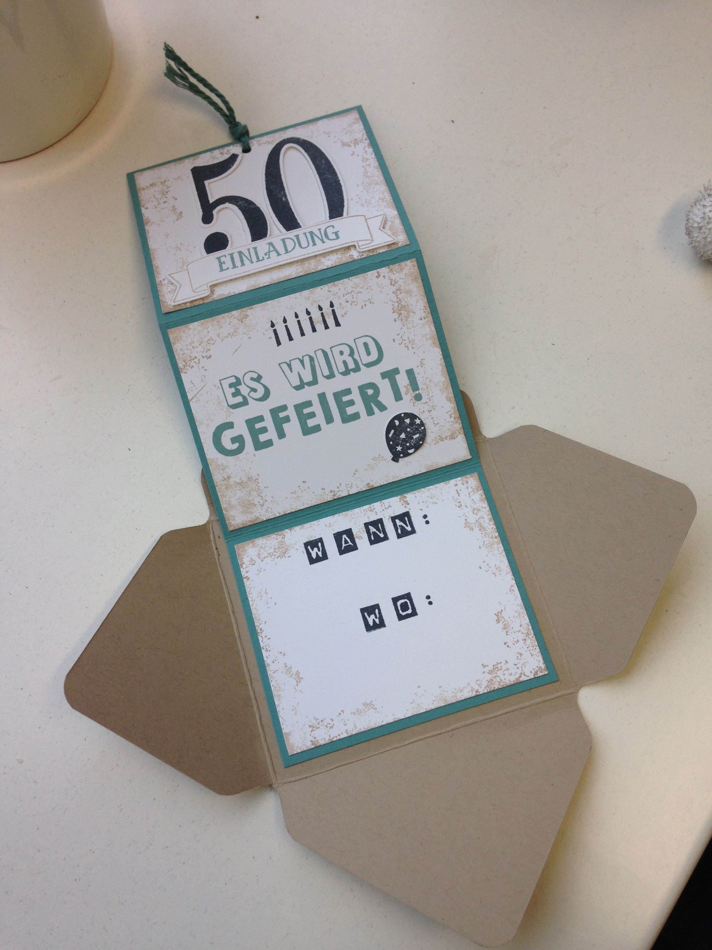 stampin up einladung 50 geburtstag eigene werke pinterest einladung 50 geburtstag 50er. Black Bedroom Furniture Sets. Home Design Ideas
