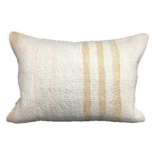 Vintage Turkish Hemp Lumbar Pillow| HIGGINS 14x20