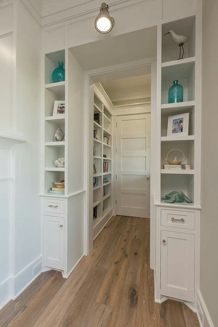 Entry To Walk In Coat Closet. Surround It With Shelves.