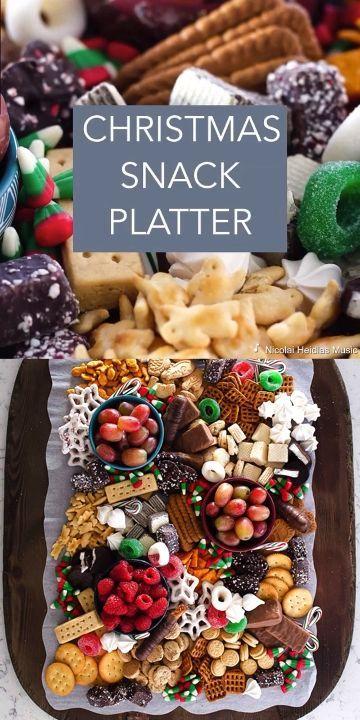 Christmas Snack Platter - Dessert Board for Kids a