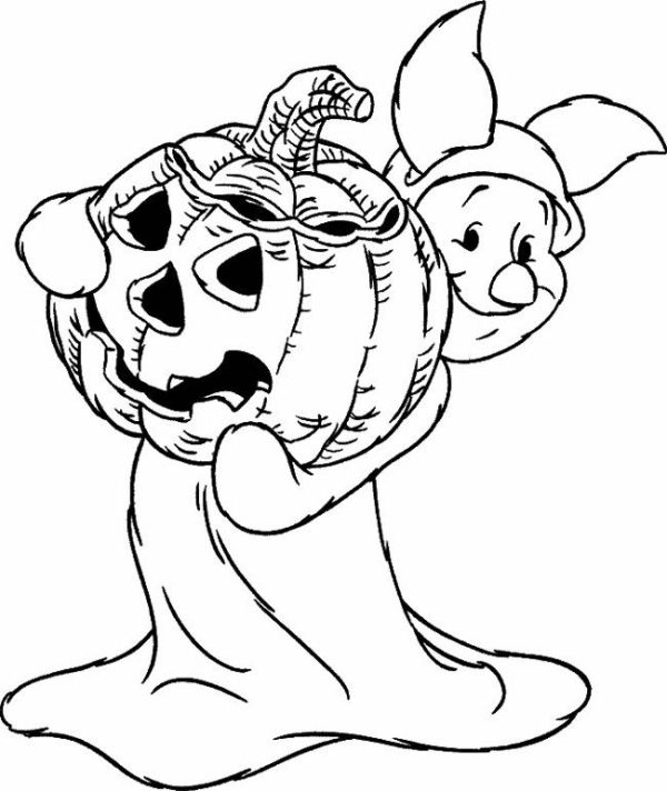 Halloween Coloring Pages Halloween Piglet Coloring Page Coloring Book Pages P Halloween Coloring Pages Disney Halloween Coloring Pages Pumpkin Coloring Pages