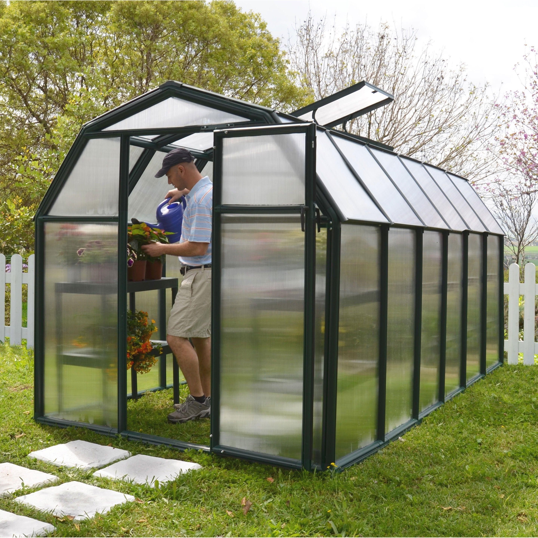 Serre De Jardin Ecogrow 7 6 M Resine Et Polycarbonate Double Parois Palram Serre Arriere Cour Serre Jardin Et Maison Verte