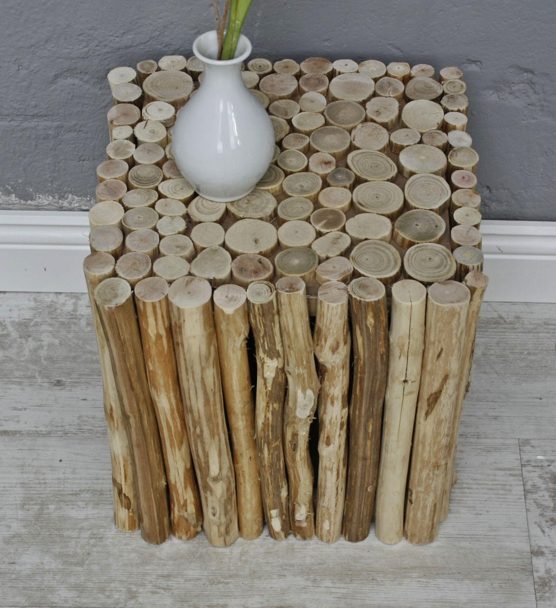 Hocker Beistelltisch Holz Eckig Hocker Holz
