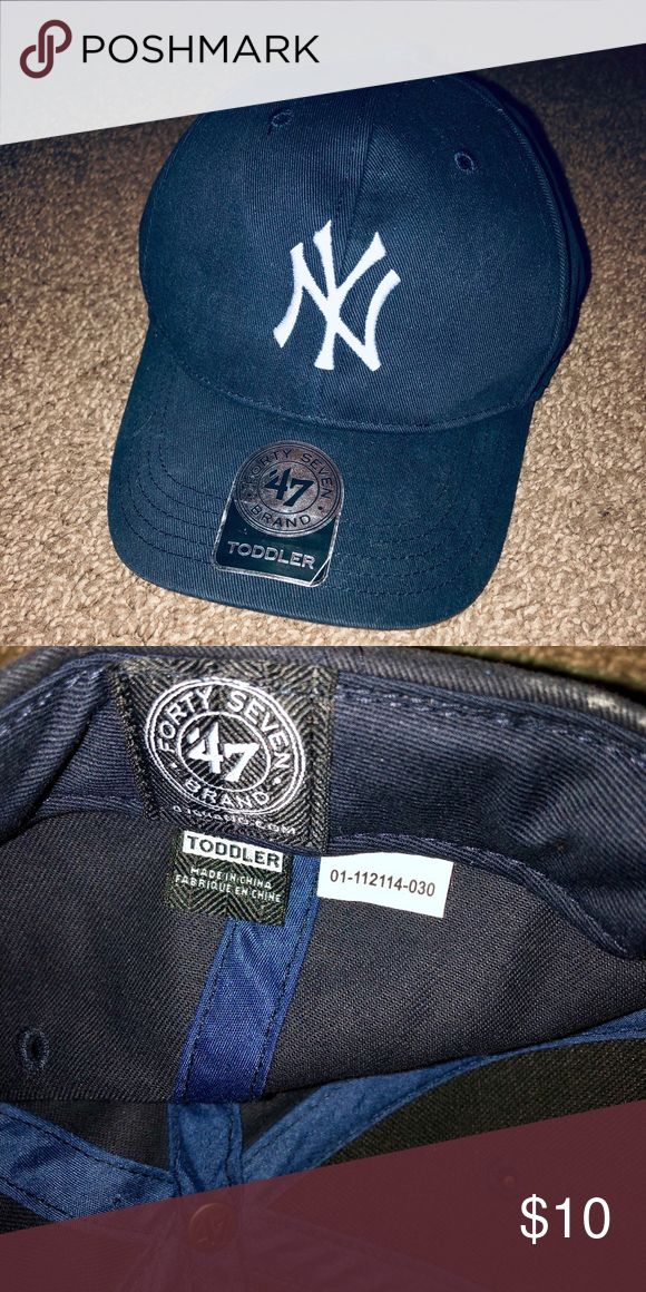 8090783ea2 Toddler Yankee Hat Forty Seven Brand My son wore this once! Velcro closure.  Sticker still on lid. MLB Accessories Hats