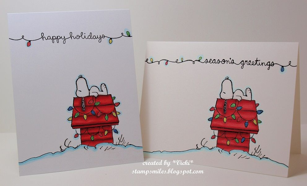 CAS Christmas with Snoopy by basement stamper - Cards and Paper Crafts at Splitcoaststampers
