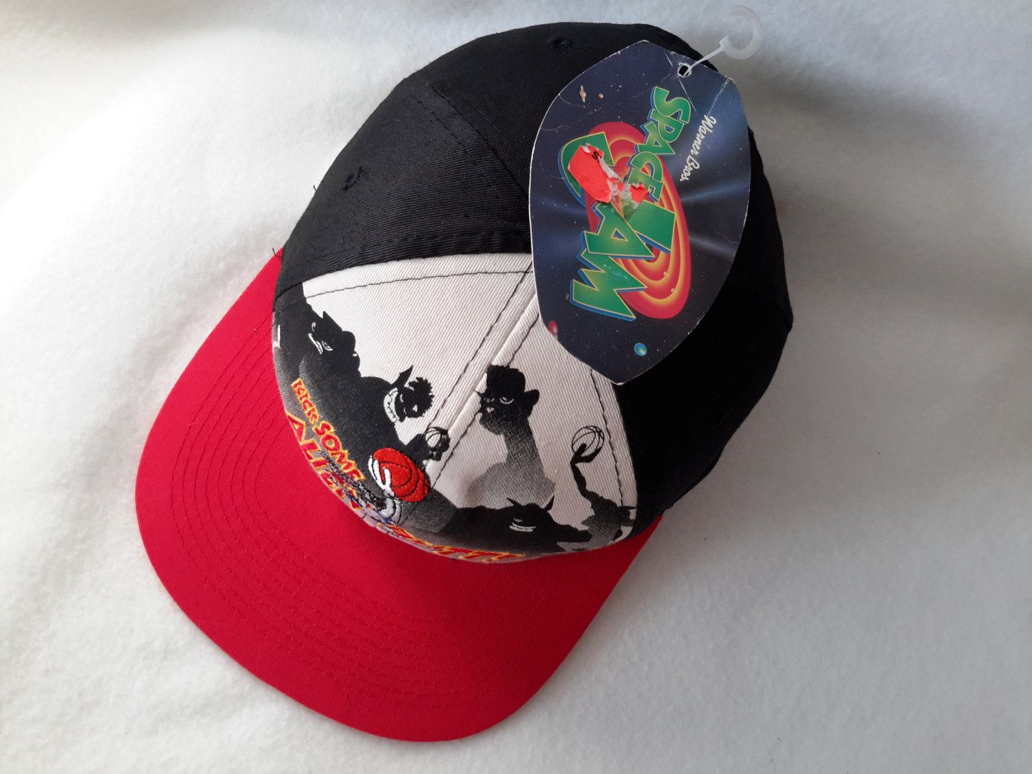 31764c437d3d Vtg 1996 Space Jam Kick Some Alien Butt DEADSTOCK Snapback Bugs ...