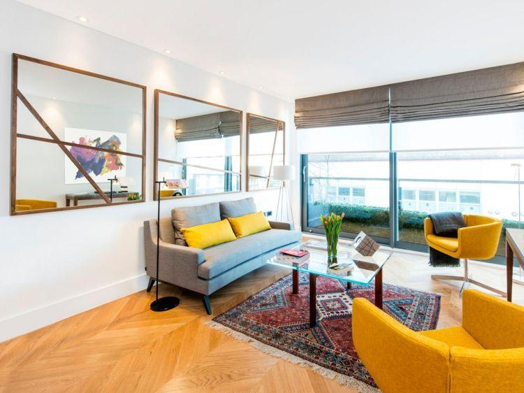 Moderne Wohnzimmer Gestaltung Mit Spiegeln