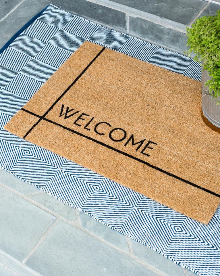 Modern Welcome Doormat Door Mat Front Door Mats House With Porch