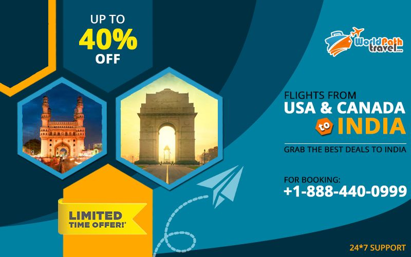 Are you looking for the #bestdealstoIndia from #Canada & #USA? Then you must call #worldpathtravel and connect with one of our experts and get perfect airfare rates for #cheapflightstoIndia.  Call: +1-888-440-0999  #flightticketstoIndia #bestflightdealstoindia #TriptoIndia #SpecialDiscounts #Canadatoindiaflights #usatoindiaflights #flightsfromusatoindia