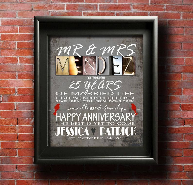 Parents anniversary gift personalized anniversary gift