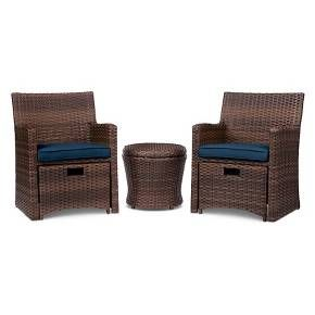 Halsted 5 Piece Wicker Small E Patio Furniture Set Threshold Target