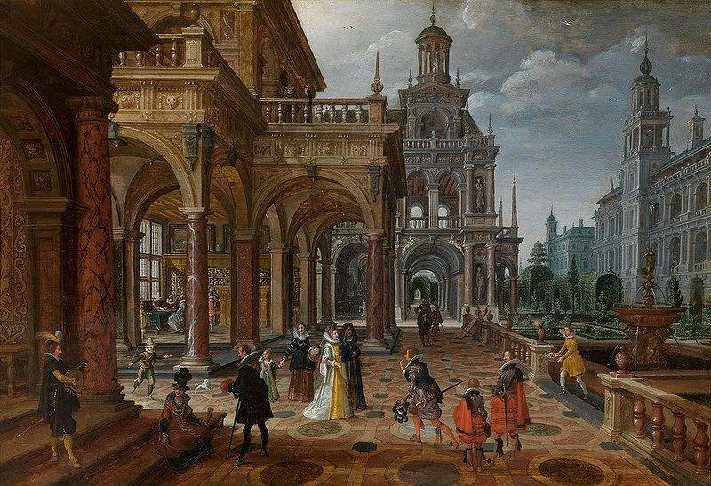 Paul Vredeman De Vries Und Sebastiaan Vrancx Palastanlage Palaces Decorative Prints Painting Art