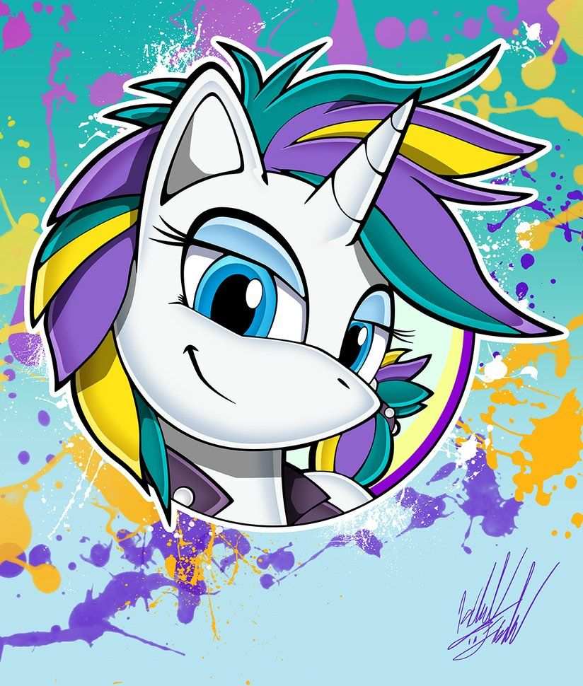 pony channel raripunk portrait by fuzon s my little pony