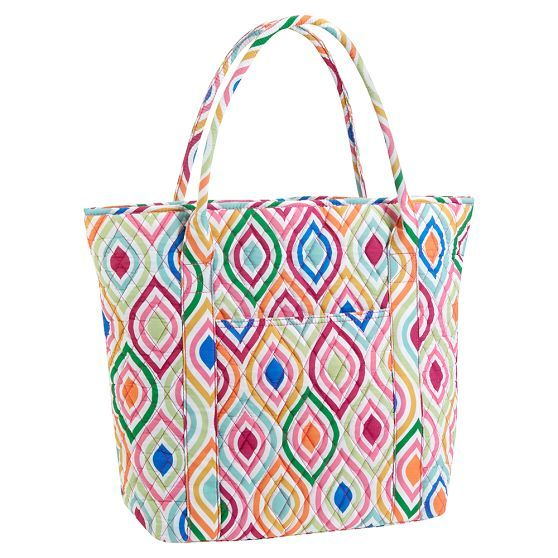 ce4bf7ff73 Sleepover quilted tote in Ogee print from PBteen - not what I d expected to