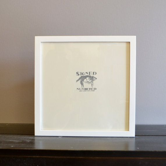 10x10 inch Square Picture frame in Peewee by signedandnumbered ...