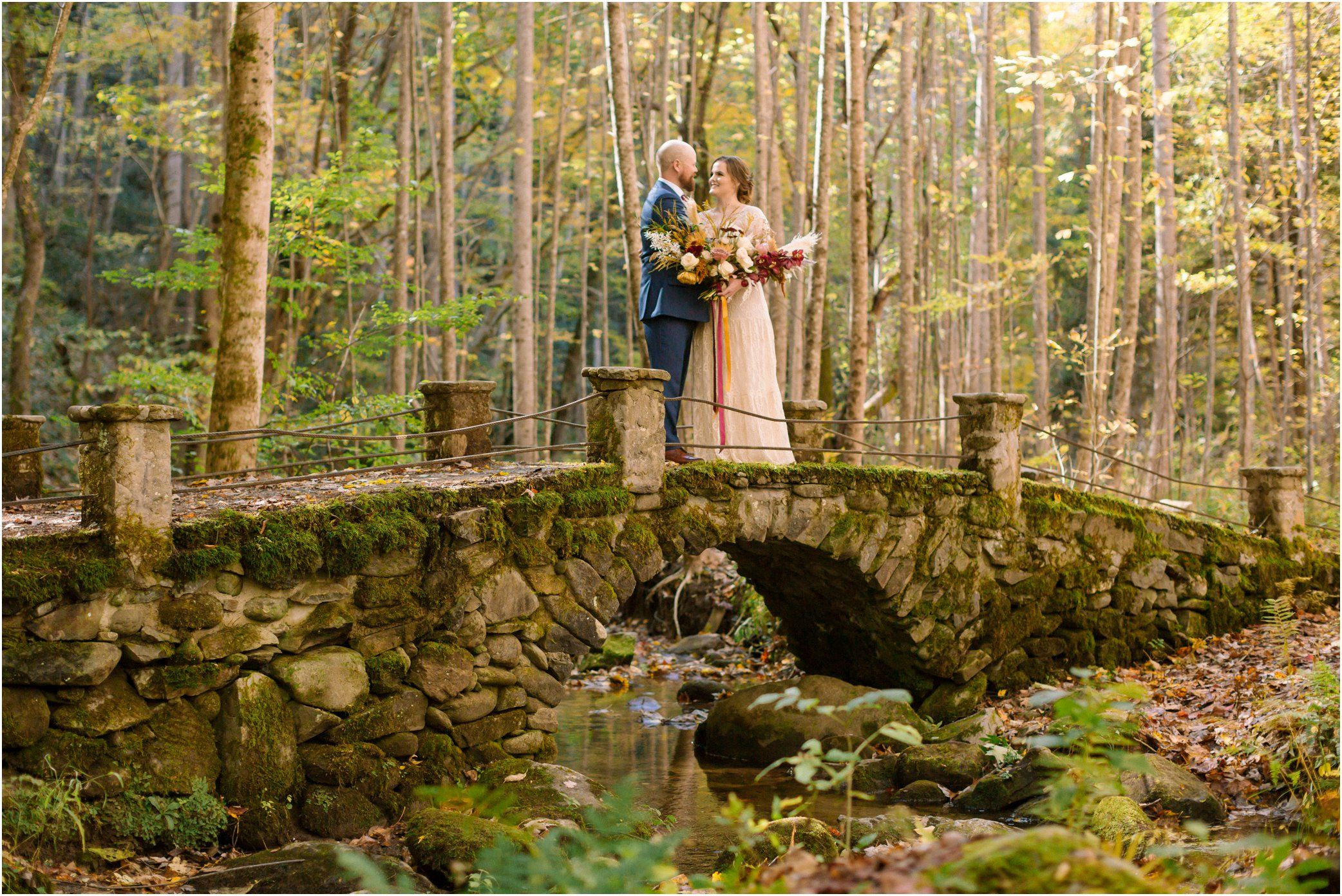 Smoky Mountain Fall Wedding Photos In 2020 Gatlinburg Weddings Smoky Mountain Wedding Mountain Wedding Photos