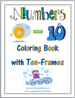 Numbers 0-10 Math Coloring Book with Ten-Frames Freebie | Ten frames ...