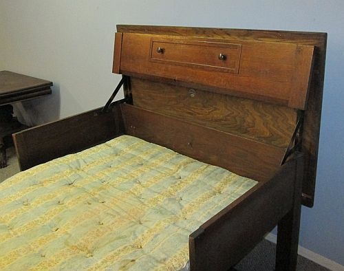 Unique Antique Mission Oak TA Bed Chicago Table Bed Novelty
