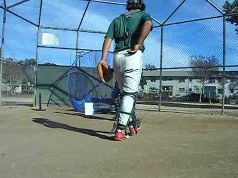 Catcher Drills With Brian Serrano 16 Year Old Granada Hills High School Working Out With Coaches Big E Baseball Training Backyard Baseball Baseball Drills