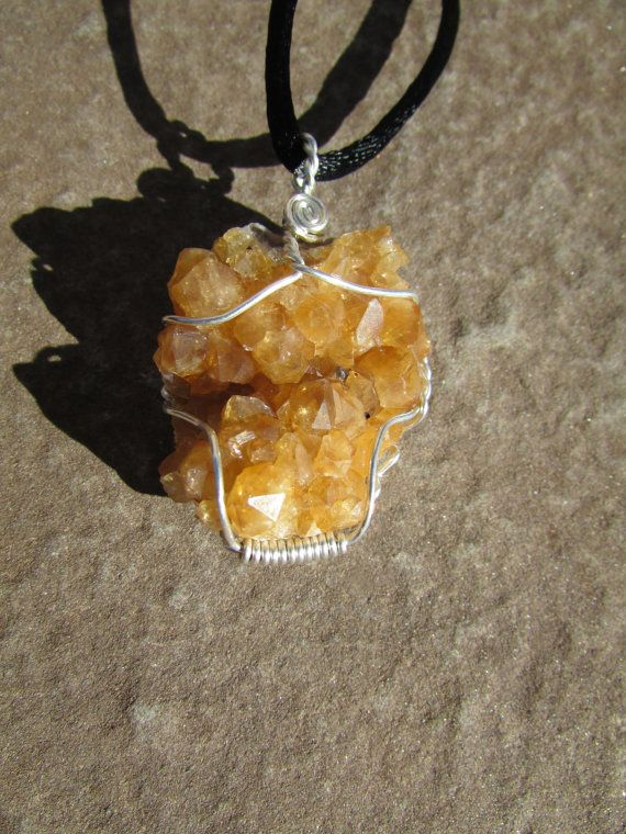 Citrine crystal pendant untreated citrine healing crystal cluster citrine crystal pendant untreated citrine by sequoiasroots aloadofball Image collections
