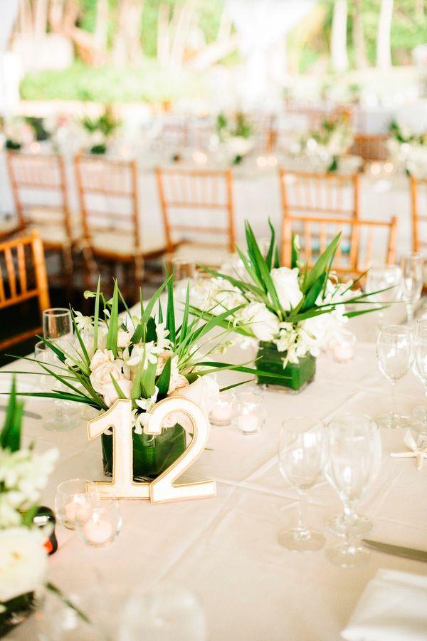Beautifully Detailed Hawaii Wedding from Josh Elliott Photography - wedding centerpiece idea