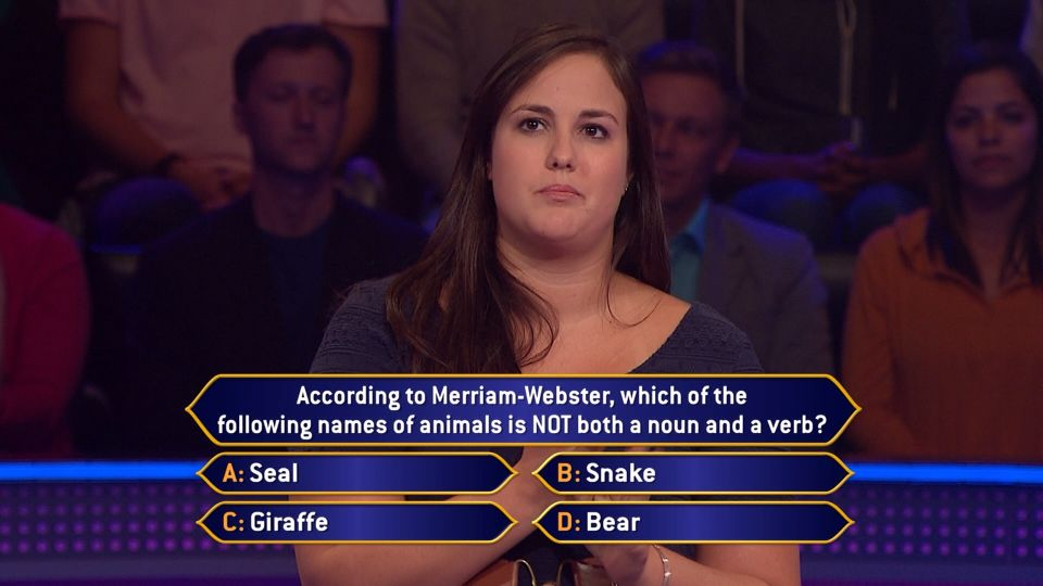 Today Contestant Erin Mclean Turns The Merriam Webster