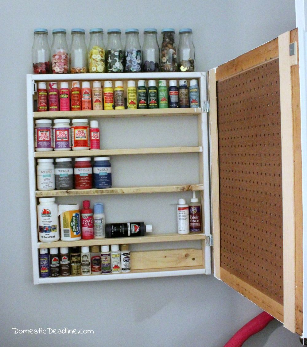 Organizing my craft room custom craft paint storage cabinet and more - Domestic Deadline & Craft Room Organization - Where to Start | Pinterest | Craft paint ...