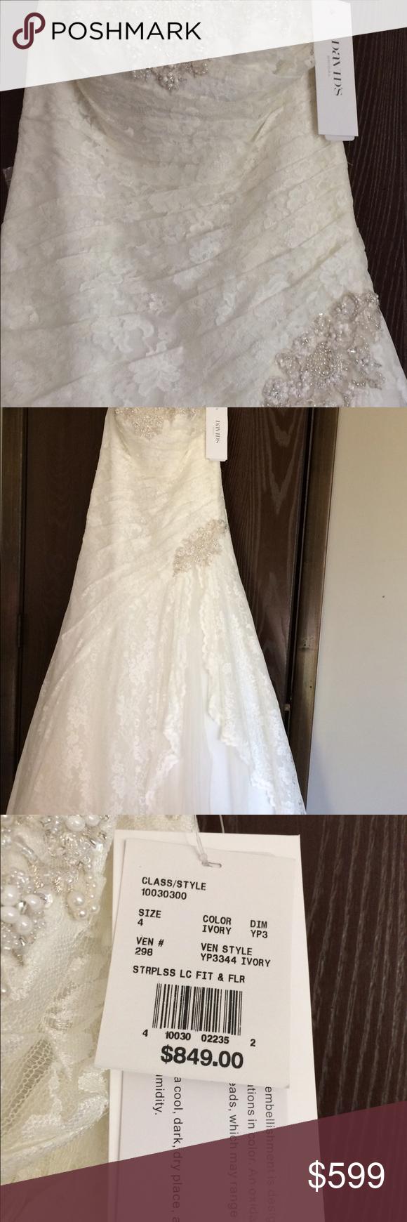 Current design davidus bridal wedding gown never worn never altered