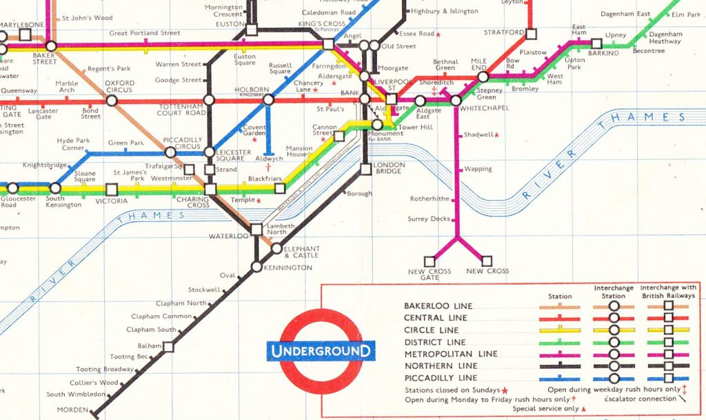 underground map 1963 find holborn station in the above map this has the central