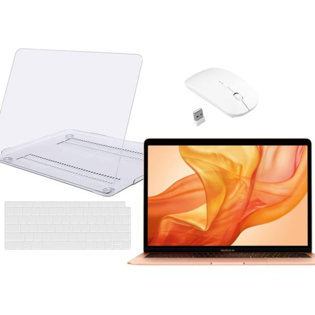 "2019 Apple MacBook Air 13"" i5 128GB SSD with Touch ID & Tech Support - QVC.com"